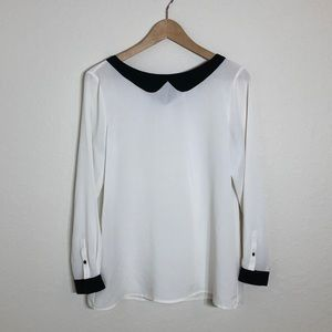 The Limited Long Sleeve Cream  Blouse